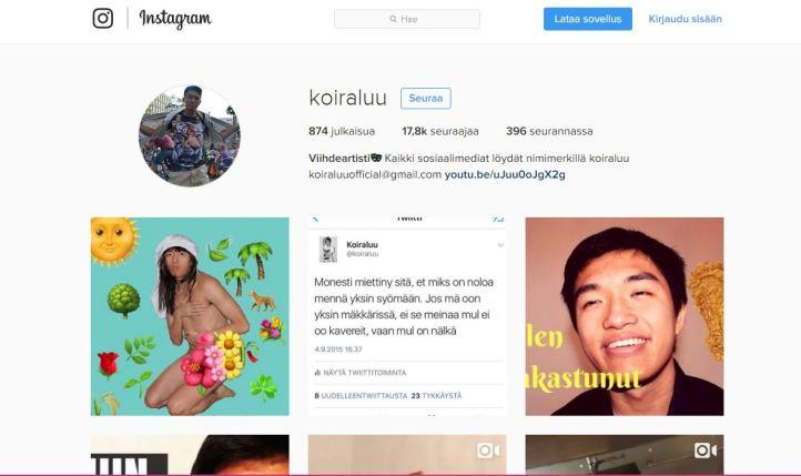 Phucilla on Instagramissa huima määrä seuraajia.